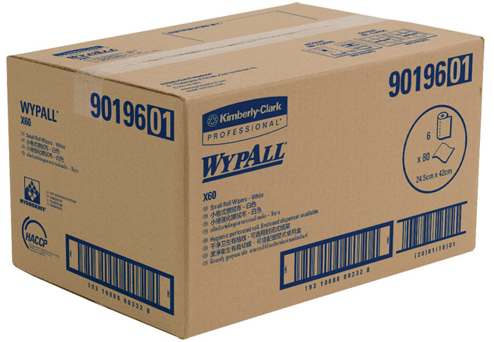 WYPALL* X60 Small Roll Wipers - White